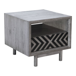 Zuo Raven End Table Old Gray