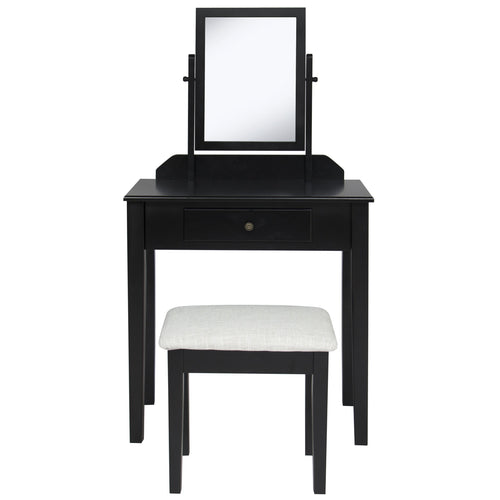 Bathroom Vanity Table Set - Black
