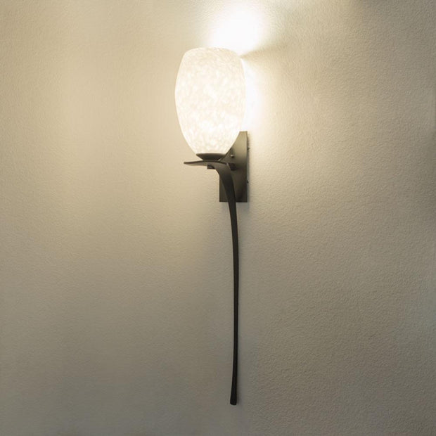 wall lighting with handmade glass shade