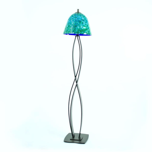 floor lamp with handmade shade