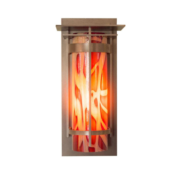 Banded Outdoor Sconce with Top Plate Large