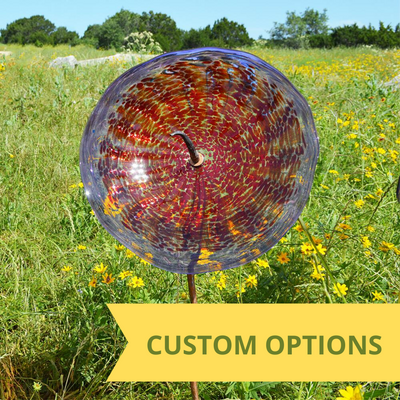 Custom Single Glass Yard Flower