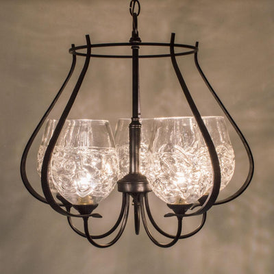 handcrafted five light chandelier for the home