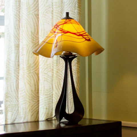 handcrafted art glass table lamp