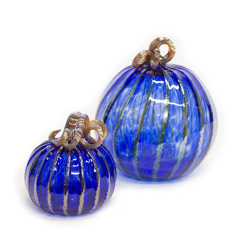 handmade glass pumpkin
