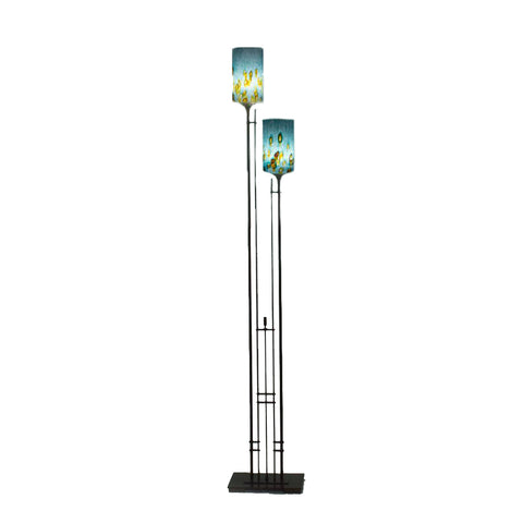 Tall Metra Twin Floor Lamp