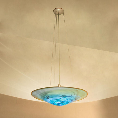 handmade hanging glass light fixture