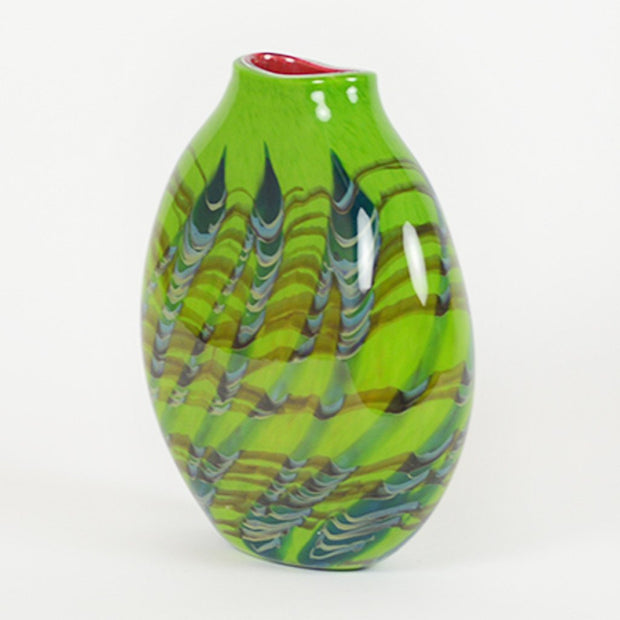 Tropical Bamboo Emerald Sphere Vase