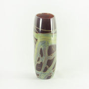 China Red Flat Taper Vase