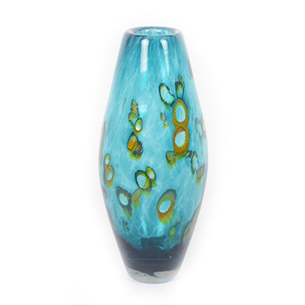 beach themed handmade glass vase