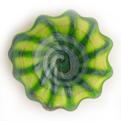 green art glass platter