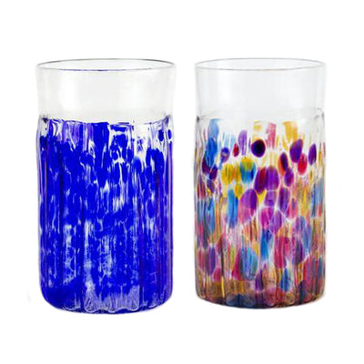 handblown glass large tumblers