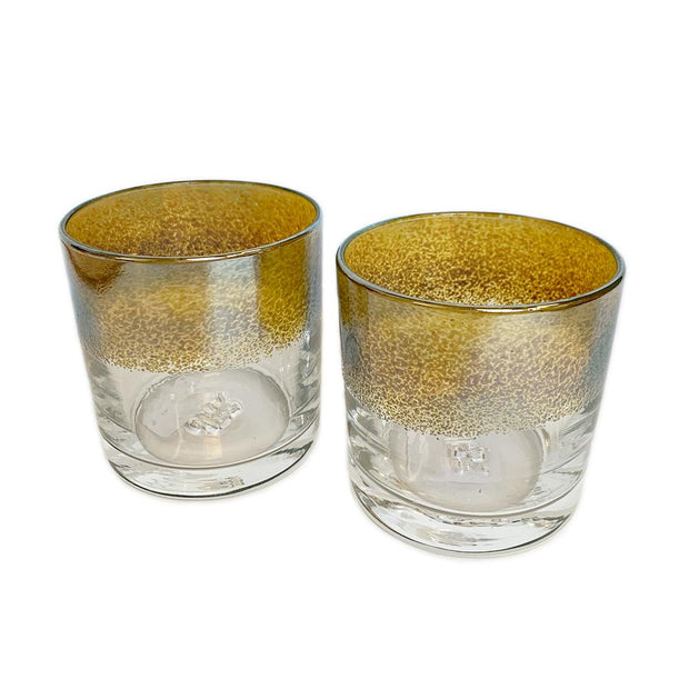 hand blown glass cocktail whiskey glasses