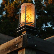 handcrafted outdoor post lighting