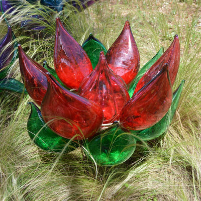 Red & Green Glass Succulent