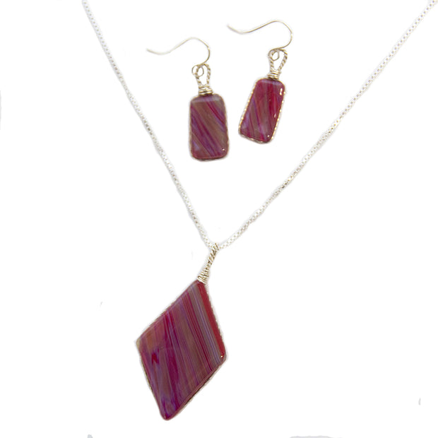 Ruby Bamboo Jewelry Set