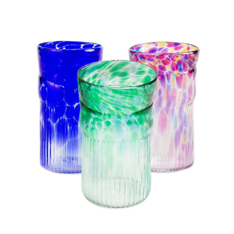 Handblown glass small tumblers