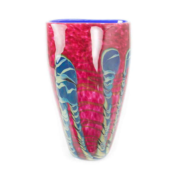 Tropical Bamboo Ruby Flat Taper Vase