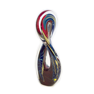 Tropical Bamboo Ruby Mobius Sculpture