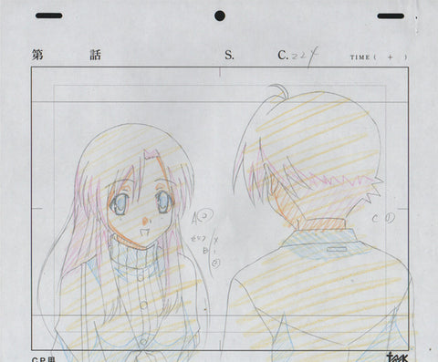 School Days - 5 piece genga set - Itou and Katsura
