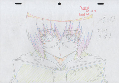 The Familiar of Zero - 8 piece genga / douga set - Tabitha reading