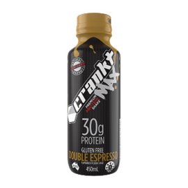CRANKT MAX 30g Protein Shake - 450ml - Double Expresso - 12 Pack