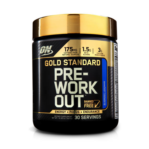 ON Gold Standard Pre Workout 30 Serve - Blueberry Lemonade