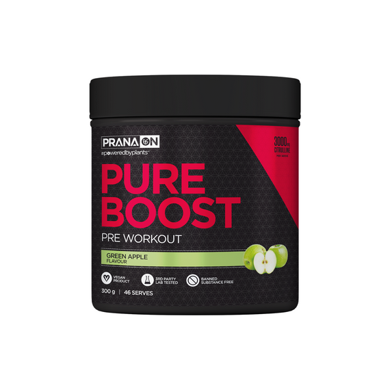 PRANA ON Pure Boost Pre-Workout 300g Green Apple