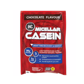 INC Micellar Casein 40g Sachets - Chocolate - 15 Pack
