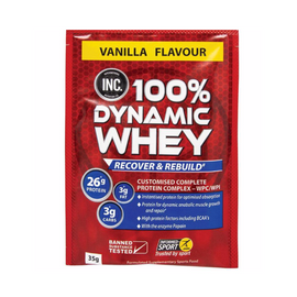 INC 100% Dynamic Whey Sachets 35g - Vanilla - 15 Pack