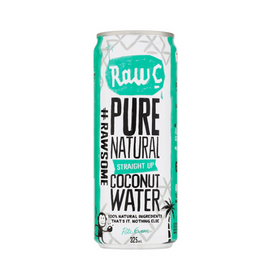 Raw C - Coconut Water - Straight Up 325ml Can - pack 12