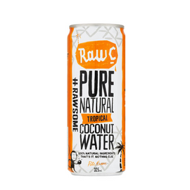 Raw C - Coconut Water - Tropical 250ml Can - Pack 12