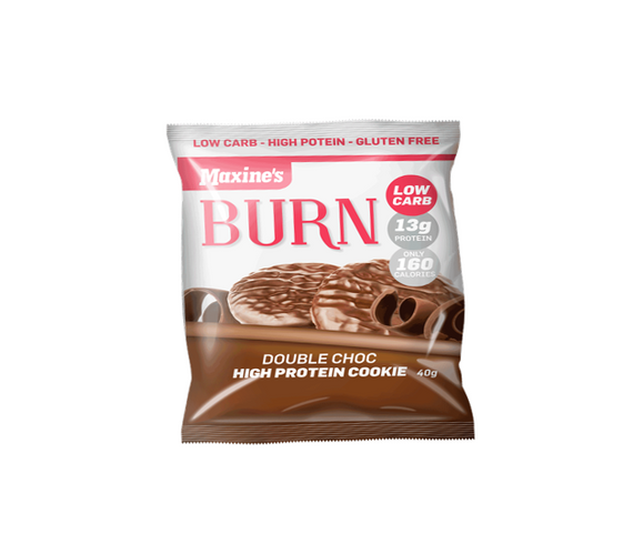 Maxines Burn Cookie - 40g - Double Choc - 12 Pack