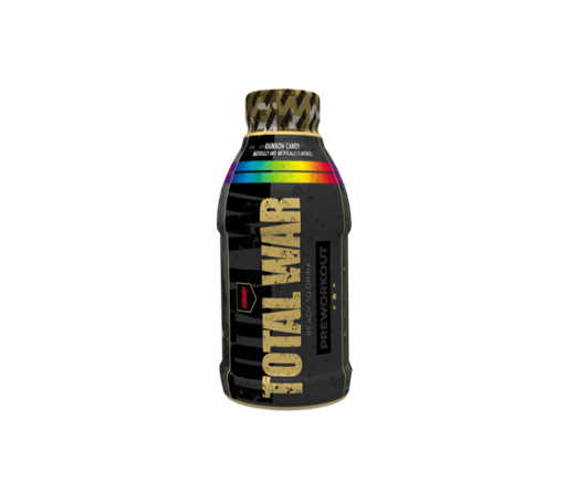 TOTAL WAR Pre Workout RTD - 355ml - Rainbow Candy - 12 Pack
