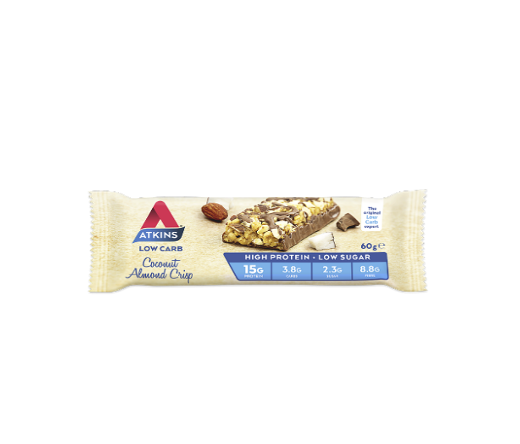 Atkins Advantage Bar 60g - Coconut Almond Crisp - Pack of 15