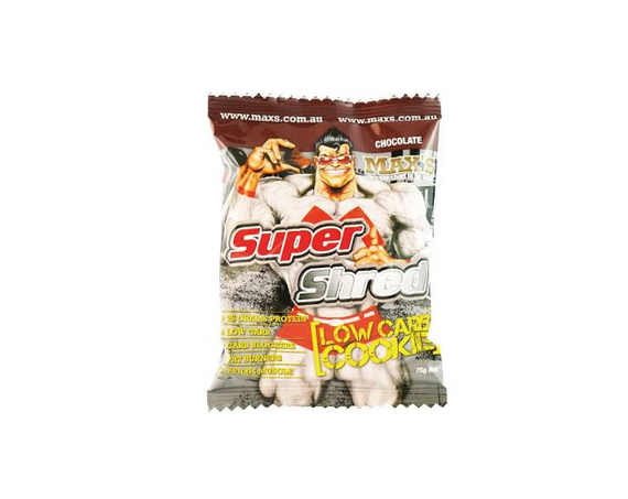 MAX'S Supershred Cookie - 75g - Choc - 12 Pack