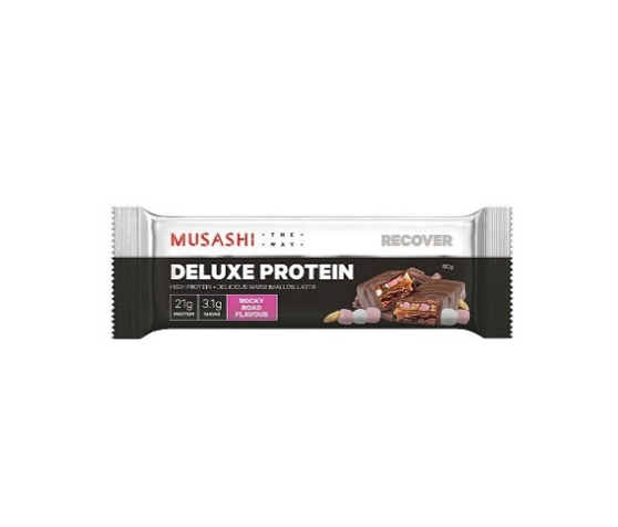 Musashi Deluxe Protein Bar - 90g - Rocky Road - 12 Pack