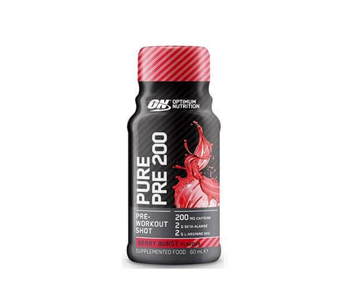 Pure Pre 200 Pre-Workout Shot - Berry - 12 Pack