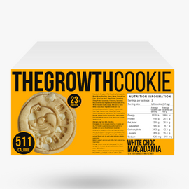 The Growth Cookie 115g White Choc Macadamia - 12 Pack
