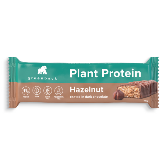 Greenback Plant Protein Bar 50g Hazelnut 12 Pack