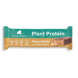 Greenback Plant Protein Bar 50g Peanut Butter 12 Pack