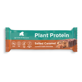 Greenback Plant Protein Bar 50g Salted Caramel 12 Pack