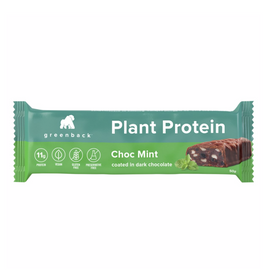 Greenback Plant Protein Bar 50g Choc Mint 12 Pack