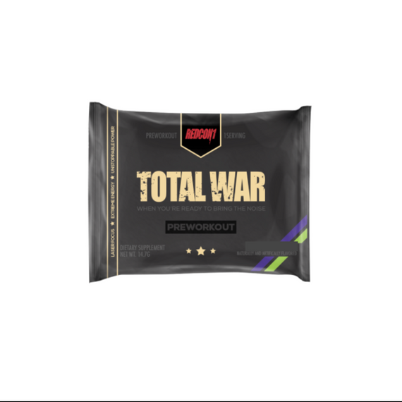 TOTAL WAR Pre Workout 14.7g sachet Strawberry Mango - 10 Pack