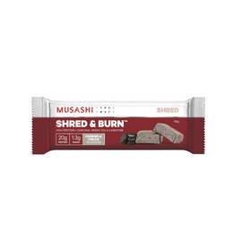 Musashi Shred & Burn Bar - 60g - Cookies & Cream- 12 Pack