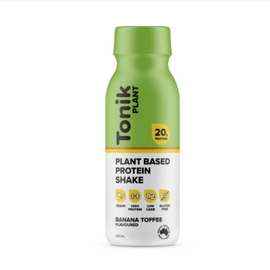 Tonik PLANT Protein Shake 330ml Banana Toffee - 12 Pack