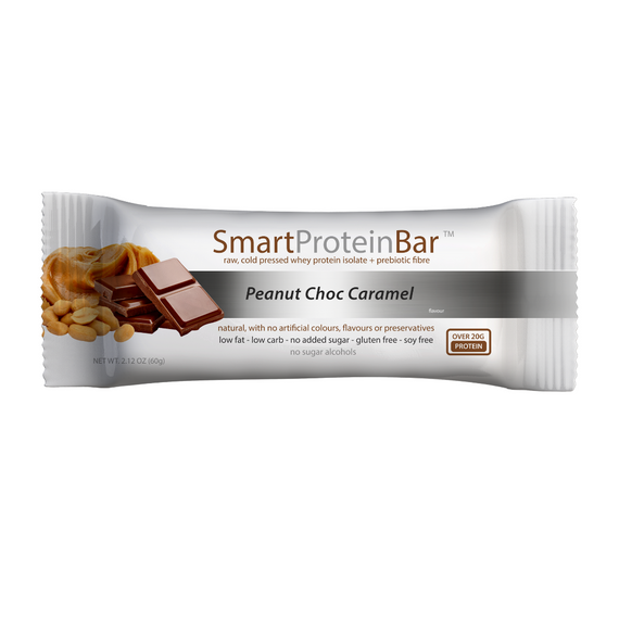 Smart Protein Bar 60g Peanut Choc Caramel - 12 Pack