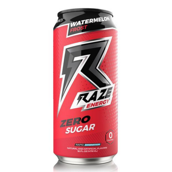 Raze Energy Drink 473ml Watermelon Frost - 12 Pack