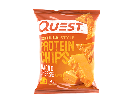Quest Tortilla Protein Chips 32g - Nacho Cheese - 8 Pack