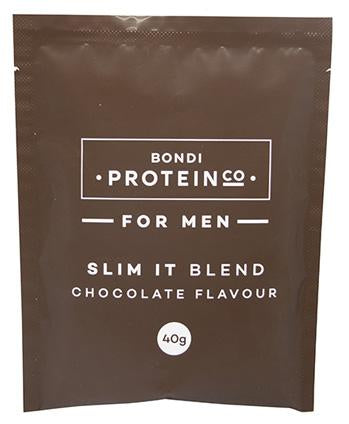 Bondi Protein Co Mens Slim It Blend Single Serve Sachet 40g Chocolate - 12 Pack